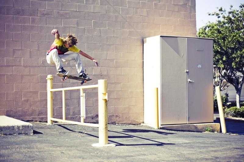 прыжок на скейте