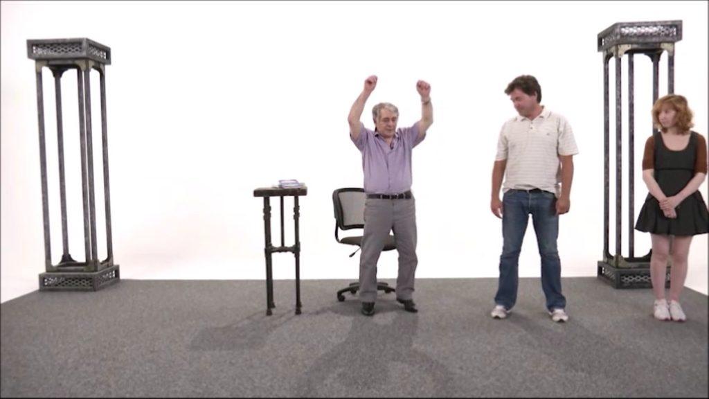 Хасай Алиев показывает Синхрогимнастику