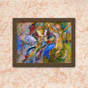 "Картина Хасая Алиева ""Оторопевший Ангел, - она без крыльев, а летает...Танец."""