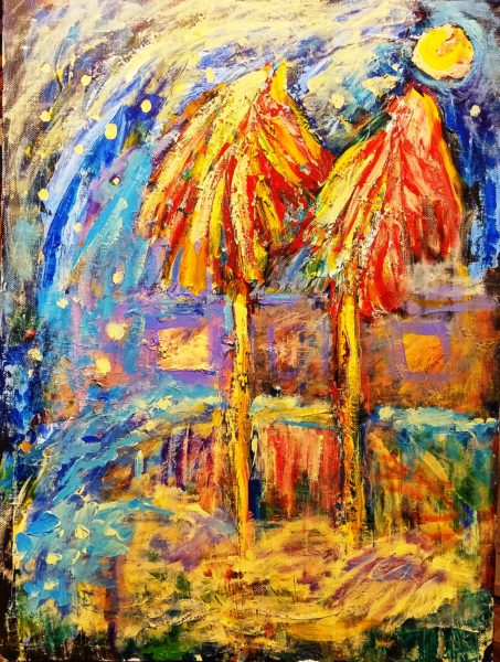 """Картина Хасая Алиева """"Новогодние пальмы"""""""