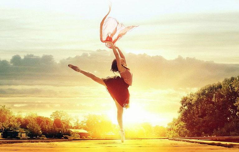балерина на природе